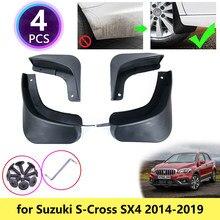 Брызговики S-Cross 2014 ~ 2019 для Suzuki SX4, брызговики, щитки от грязи, аксессуары для детей