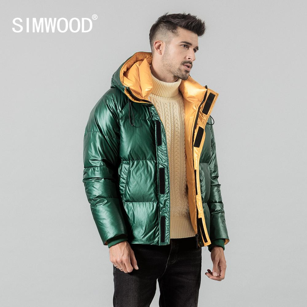 SIMWOOD Winter New 90% White Duck Down Coats Men Warm Short Jackets High Quality Brand Clothing SI980616