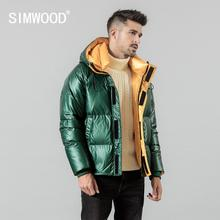 SIMWOOD winter new 90% white duck down coats men warm short