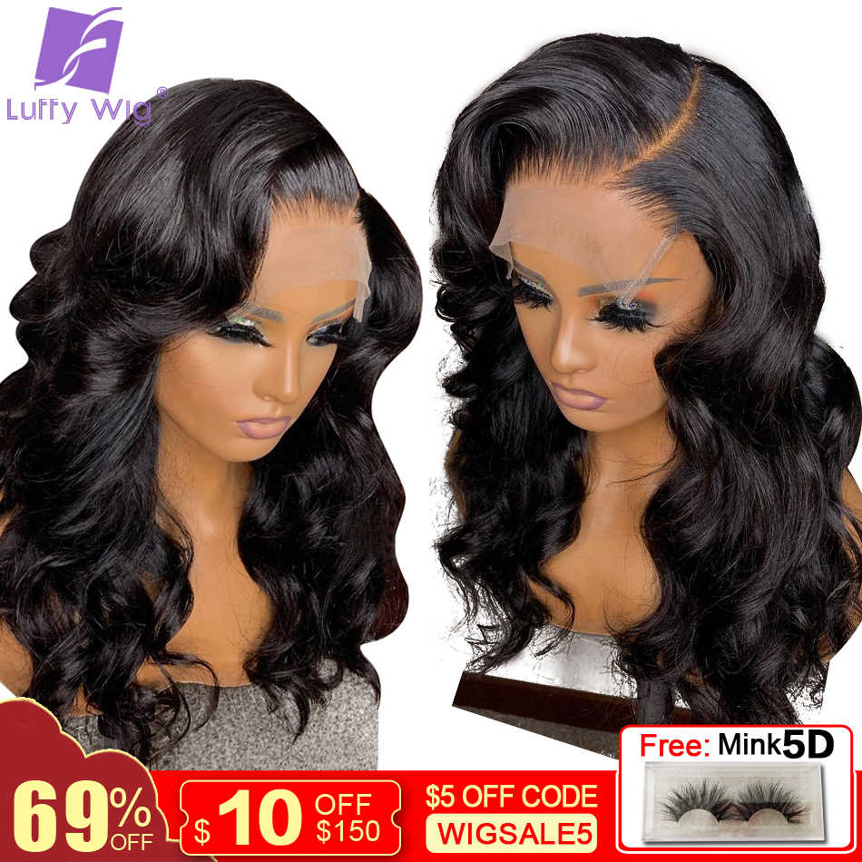 5x4.5 Silk Base Wigs Remy Brazilian 13x6 Lace Front Human Hair Wigs Wavy With Baby Hair Glueless 180 Density For Women LUFFY