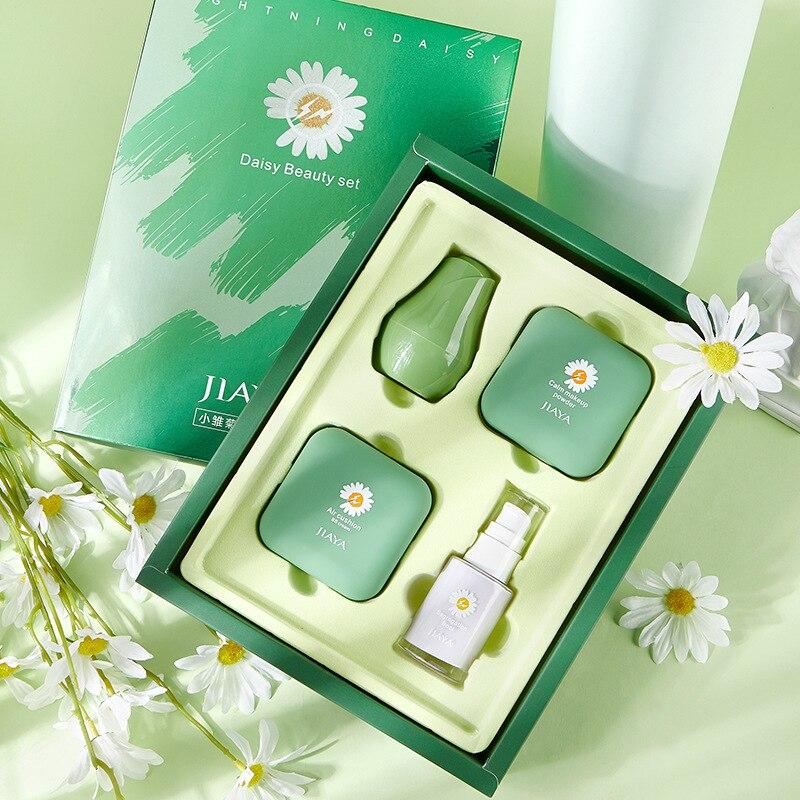 Daisy Makeup Set Mushroom Head Air Cushion BB Cream Concealer Powder Make Up Puff Women Beauty Cosmetics Valentine's Day Present
