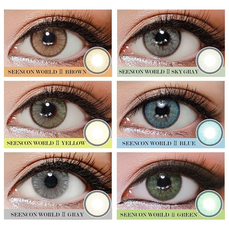 Aurora II Women Student Cosmetic Soft Eye Contact Lens  High Quality Natural Colored Women Eye Contact Lens