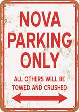 Sinal de metal keviewly-vintage look nova estacionamento apenas 8x12 polegadas