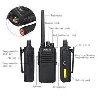 מכשיר הקשר 2pcs 10W דיגיטלי מכשיר הקשר IP67 Waterproof DMR Retevis RT81 32CH 2Zone UHF 400-470MHz Encryted מקצועי שני הדרך רדיו RU (5)