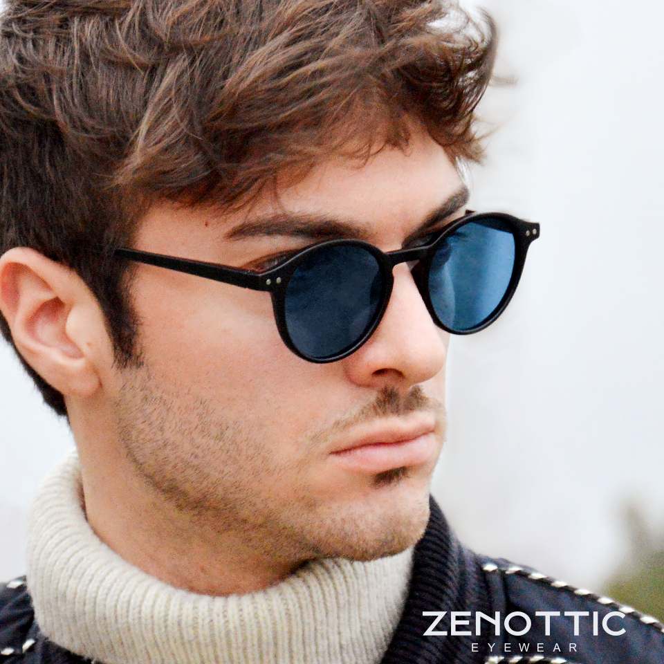 Zenottic polarizado óculos de sol das mulheres dos homens do vintage pequeno quadro redondo luz sol polaroid lente 2020 moda uv400 óculos de sol