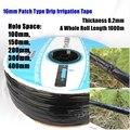1000m 16*0.2mm 공간 10 ~ 40cm 패치 유형 관개 물방울 테이프 농업 온실 농장 물 절약 관개 비 물방울 호스