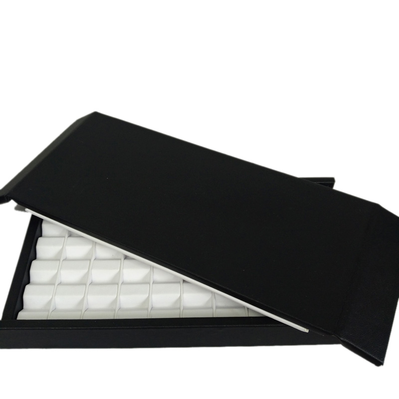 Creative Elegant Leather With Mute Magnet Cover Diamond Jewelry Storage Case Colorful Gemstone Organizer Box Gem Jewelry Holder