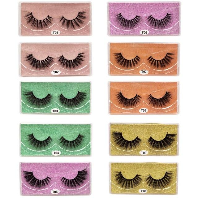 3D eyelashes Wholesale lashes 10/20/30/50pcs mink lashes Natural with Eyelash beauty Supplies makeup false eyelashes faux cils 4