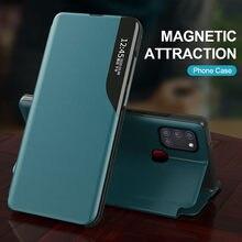 Intelligente Magnetische Leder Stand Flip Fall Für Samsung Galaxy m51 m31s m21 m30s a12 a21s a31 a51 a71 s20 FE telefon Abdeckung Coque Fundas