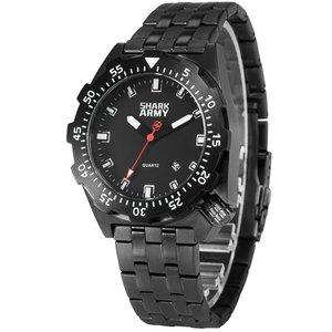 Shark Army Silver Metal Watch Bracelet 100m Water Resistant Swimming Sport Pulseira Masculina Quartz Military Wriswatch / SAW187