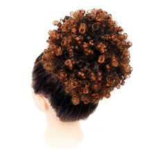 Synthetic Curly Hair Ponytail Drawstring Puff Short Kinky Wig African American Afro Wrap