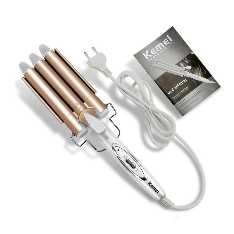 Professional Hair Tools Curling Iron Ceramic Triple Barrel Hair Styler Hair Waver Styling Tools Hair Curlers Electric Curling 5