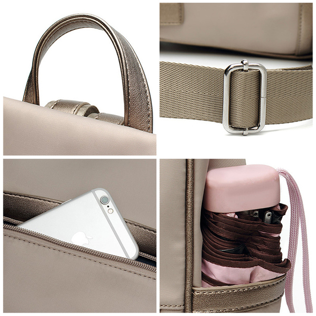 Anti theft back pack oxford waterproof bag