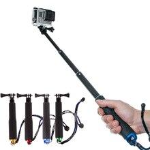 Выдвижная ручная палка для Gopro, палки для селфи, монопод для GoPro HERO 5 4 6 7 3 + 3 2 1 SJ4000 для Xiaomi Yi