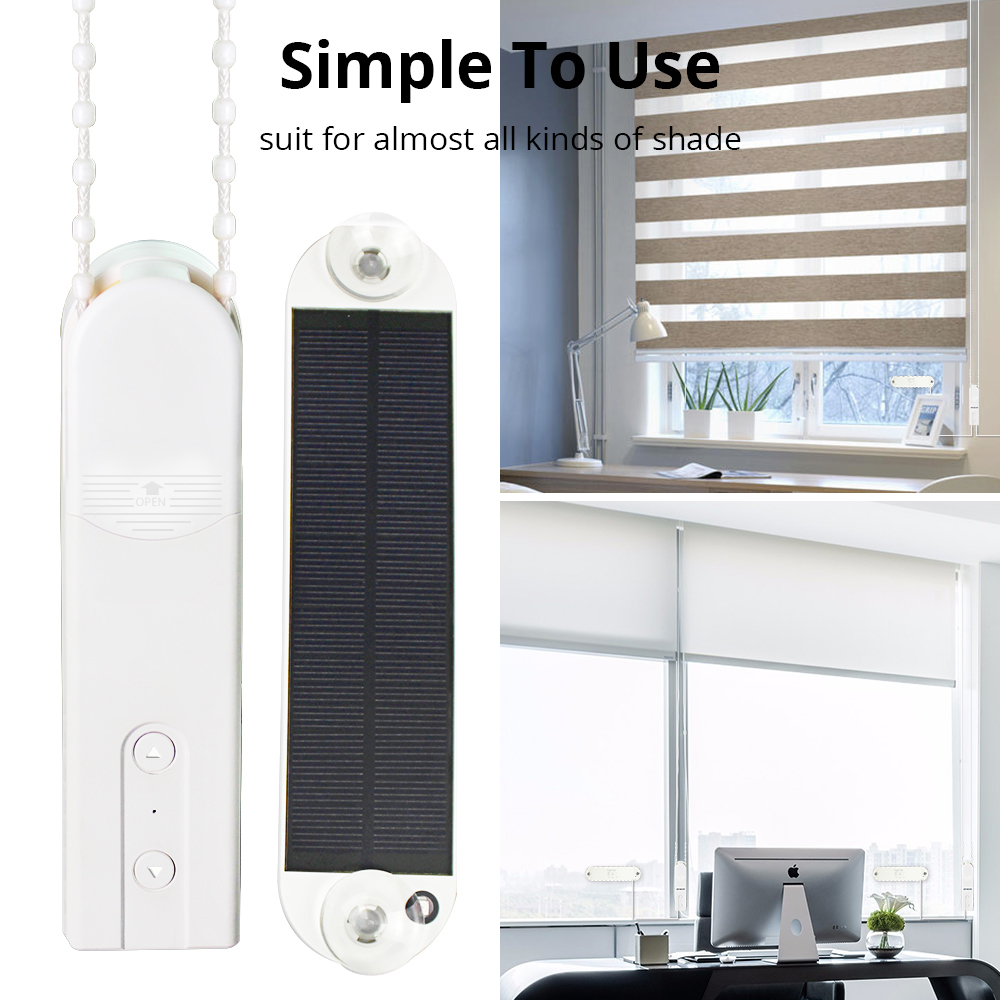 Bluetooth control Smart Elegance European chain motor with solar panel shades roller vertical venetian Zebra Blind