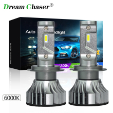 dream chaser Super Bright Car Led Light H4 H7 Led Bulb H8 H9 H11 9005 HB3 Headlights Canbus 55W 6000LM 12V Automobiles Fog Lamp xencn hb3 9005 12v 60w 3800k super bright second generation dawn light car headlights halogen for bmw x5 e36 ford honda lada asx