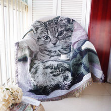 Чехол для дивана с изображением кошки Китти милый мультяшный