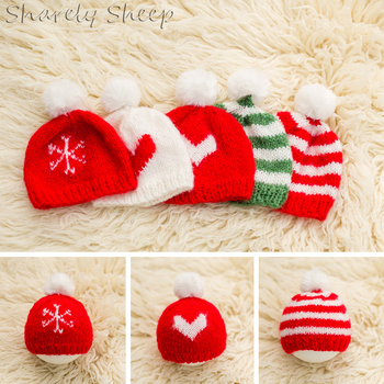 Newborn Baby Mohair Christmas Hat Photography Props Baby Boy Girl Photo Shoot Studio Xmas Cap Hat Infant fotografia Accessories newborn photography props clothes baby boy girl photo shoot hat pants outfits infant birthday shooting clothing baby shower gift