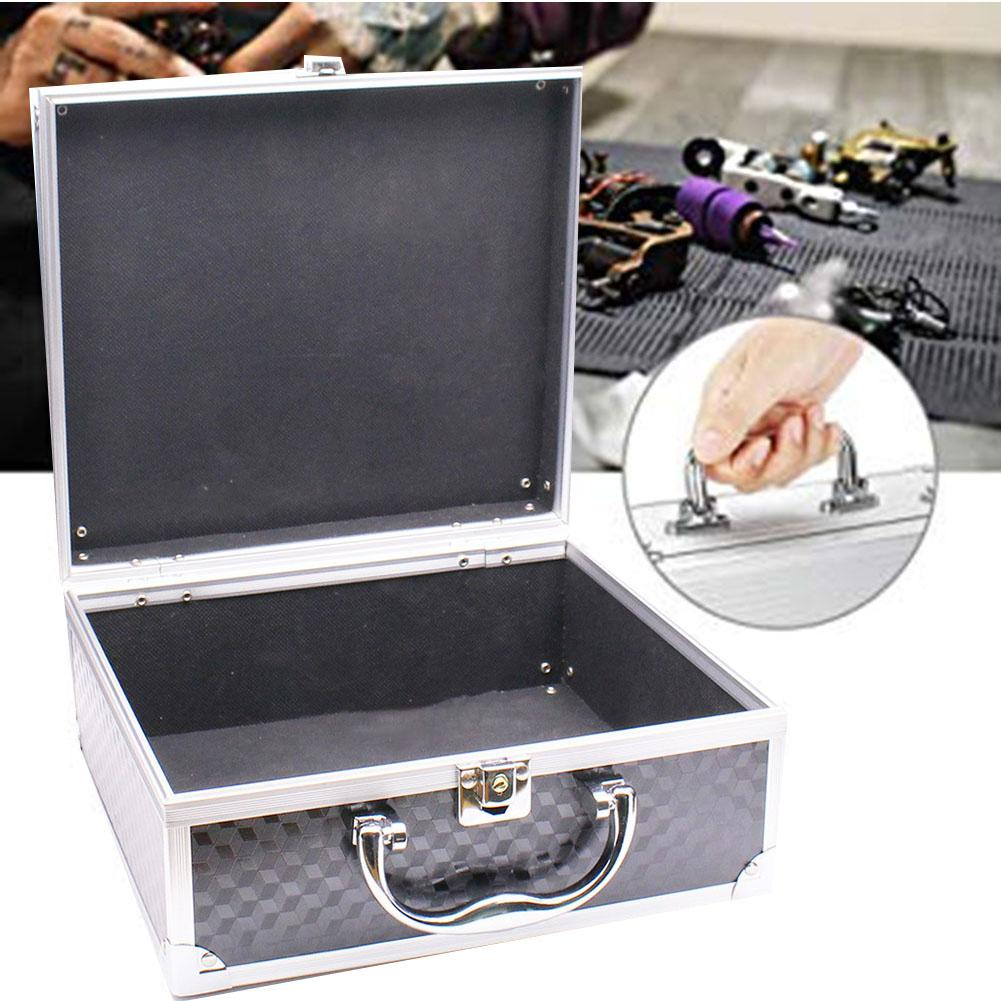 Aluminum Alloy Rotary Tattoo Machine Tools Carrying Case Coil Handle Storage Box