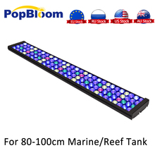 "PopBloom Dimmable LED Aquarium Light marine aquarium 36"" Full Spectrum Reef Coral LPS/SPS Tank sunrise sunset  MJ7BP1"