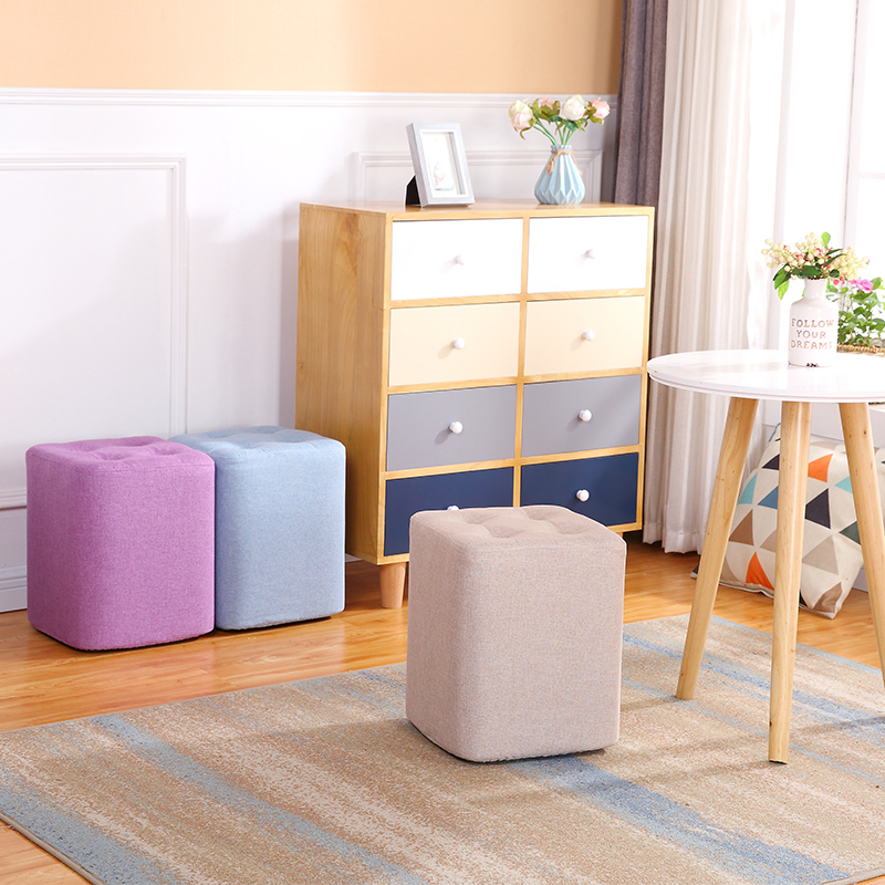 Fabric Small Stool Sofa Stool Creative Bench Family Small Chair Furniture Foot Stool Vanity Chair Sex Minimalist Modern