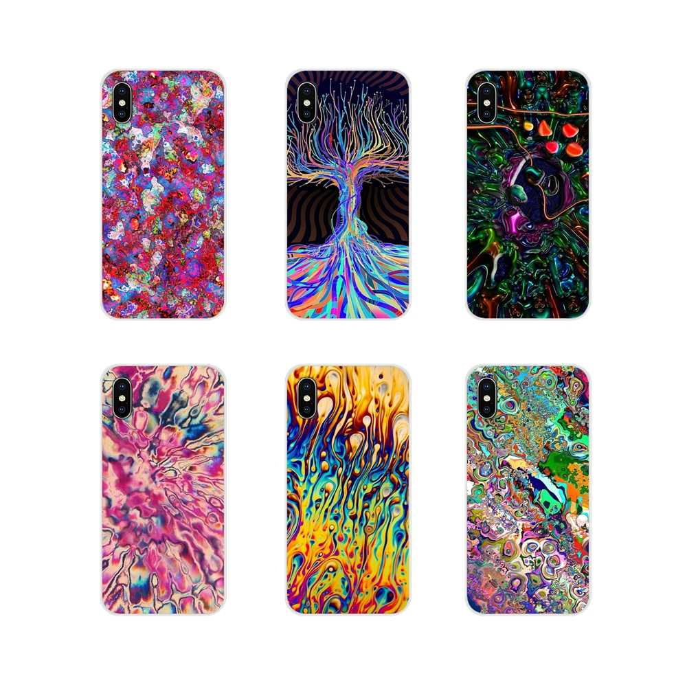 Ultra บางกรณี Psychedelic บทคัดย่อ Bright LSD Trippy สำหรับ Apple iPhone X XR XS MAX 4 4S 5S 5C SE 6 6S 7 8 PLUS iPod touch 5 6