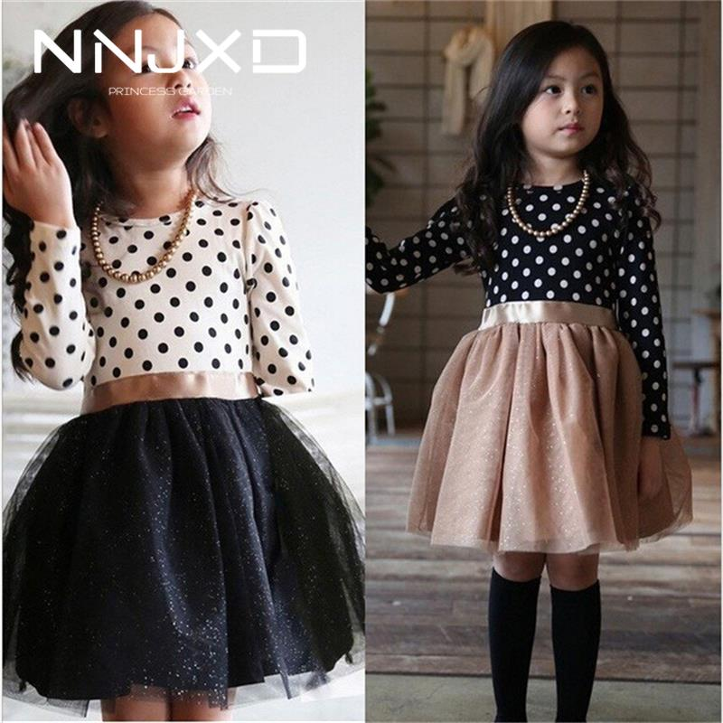 Baby Girl Long Sleeve Polka Dot Dress Girls Autumn Winter 2020 Princess Teenage Casual Wear School Kids Girls Party Tutu Dresses 1
