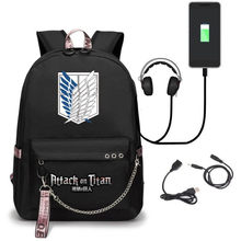 Japanese Anime Attack On Titan School Bags Peripherals Shingeki No Kyojin Wings of Freedom Backpack