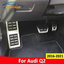 Xburstcar נירוסטה אוטומטי גז בלם הדום שאר דוושת כיסוי כרית לאאודי Q2 2016   2021 באופן MT LHD מכונית דוושות אבזרים