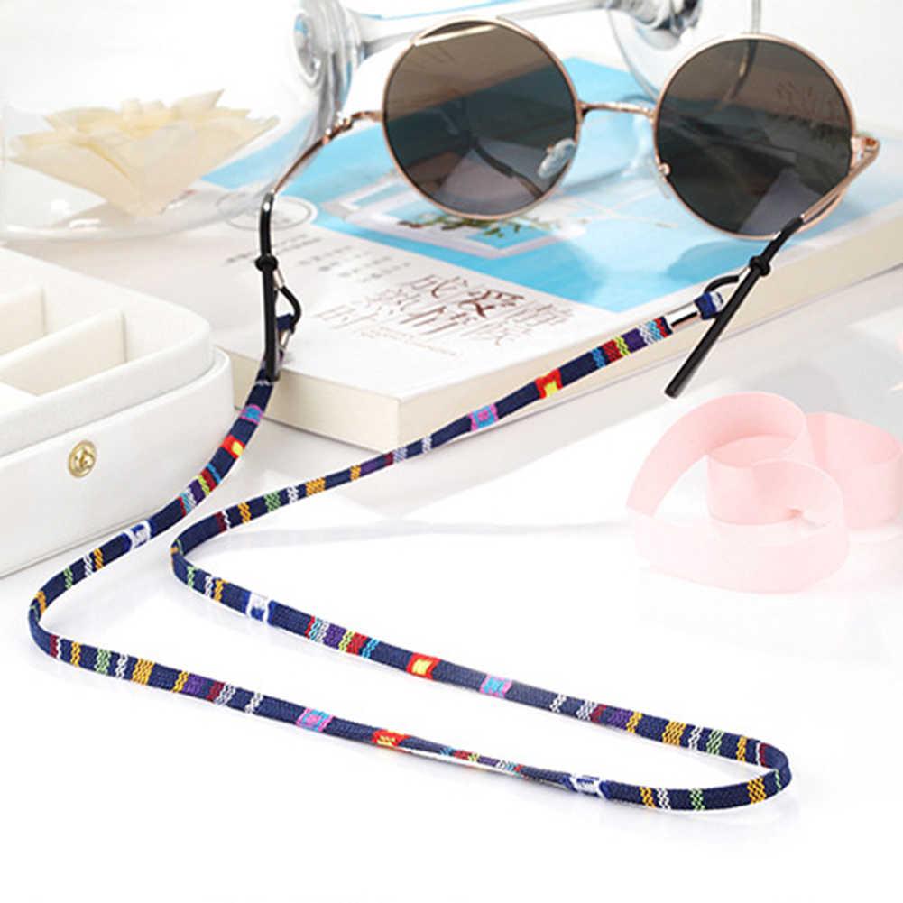 5mm geniş DIY gözlük güneş gözlüğü kordon askısı etnik tarzı pamuk gözlük kordon gözlük zinciri halat Unisex gözlük dize tutucu