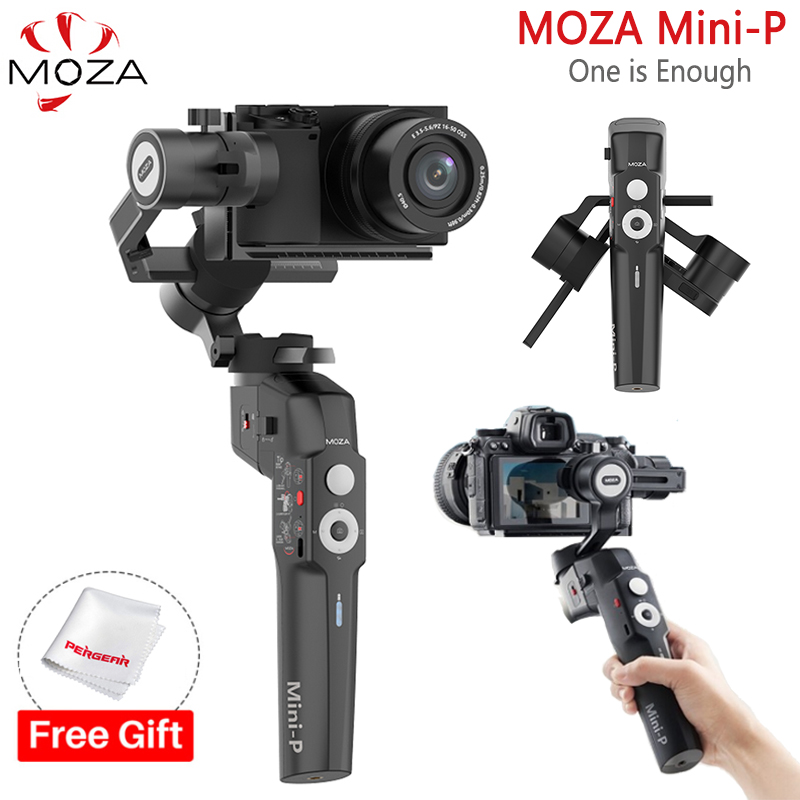 MOZA Mini P 3 Axis Handheld Gimbals Stabilizer Foldable Pocket MINI P for Action Cameras for iPhone X 11 Smartphone GoPro Max SEHandheld Gimbal   -