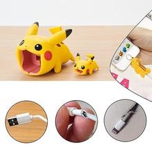 Аниме Покемон Пикачу Косплей кабель протектор Eevee Прекрасный usb кабель для зарядки Bite Take A Bite кабель Pikachu Chompers Prop подарок