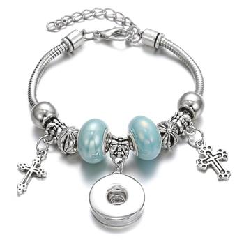 New Snap Bracelets for Women Tree of Life Metal Snap Button Bracelet Bangle Fit 18MM Snap Jewelry Bracelets Beads Making Jewelry 4