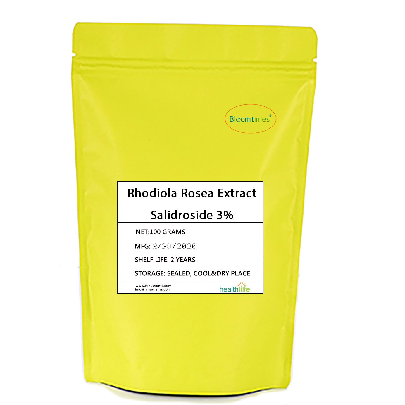 Free Shipping Natural Hong Jin Tian Rhodiola Rosea Extract Salidroside 3% Powder