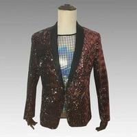 Personalized Fashion Color Sequin Man Banquet Blazer Jacket Men's Nightclub Dj Dance Stage Performance Costumes Man Talicoat