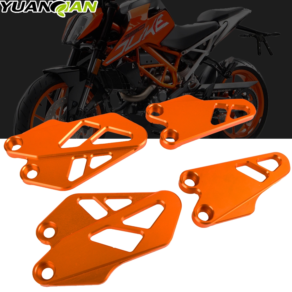 FOR KTM 125 250 390 DUKE 2017 2018 2019 Motorcycle Front And Rear Heel Protective Cover Guard Foot Flanks Motorbike Accessories image