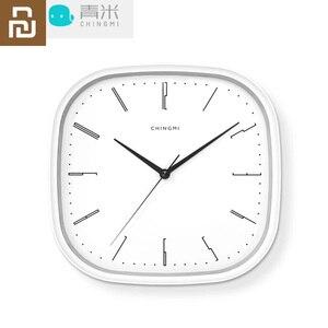 Image 1 - 新しい youpin chingmi QM GZ001 壁時計超静音超精密有名なデザイナーデザイン送料生活ためのシンプルなスタイル