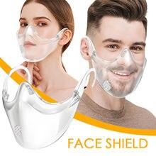 Mascarilla facial protectora con válvula para automóvil, nueva Máscara transparente mejorada con espray de cristal Anti niebla, envío directo