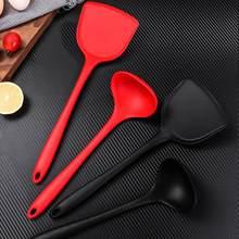 Silicone espátula colher resistente à temperatura antiaderente utensílios de cozinha ferramenta de cozinha