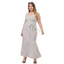 Женское летнее платье в горошек облегающее с v образным вырезом