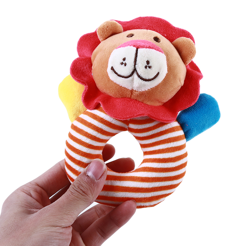 Rattle Toys Baby Kids Cartoon Animal Plush Hand Bell Stroller Crib Hanging Rattles Infant Educational Toys Gifts 0-12 Months