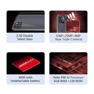 "Image 2 - Cubot X20 Pro 6GB+128GB AI Mode Triple Camera Smartphone 6.3"" FHD+Waterdrop Screen Android 9.0 Face ID Cellura Helio P60 4000mAh"