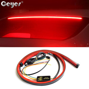 Ceyes Car Styling Trunk Tail Brake Light High Mount Additional Stop Rear Tail LED Strip Running Turn Signal Accessories For Auto