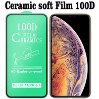 Película protectora de cerámica suave para IPhone, Protector de pantalla de vidrio templado para IPhone 12 Pro Max 11 Pro XS Max X XR 6 7 8 Plus, 100 unids/lote