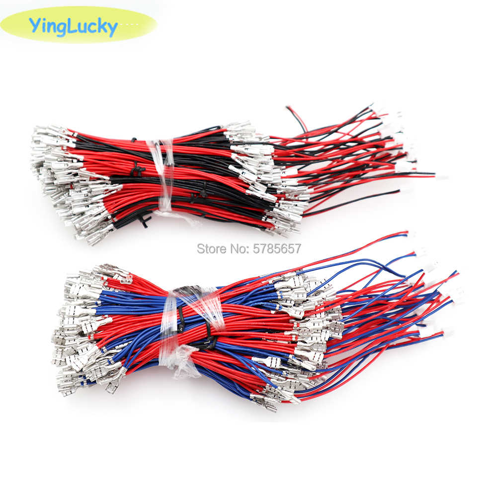 arcade wire 6.3mm, 4.8mm or 2.8mm Quick 2pin Cables 5V / 12V Illuminated Light Bulb Cable To USB Encoder for Arcade LED Button