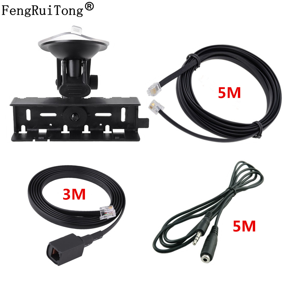 Panel Mount Holder + Panels Separate Extension Line+audio Extended Line+MIC Extended Line,for YAESU FT-8800 FT-8900 Walkie Talki