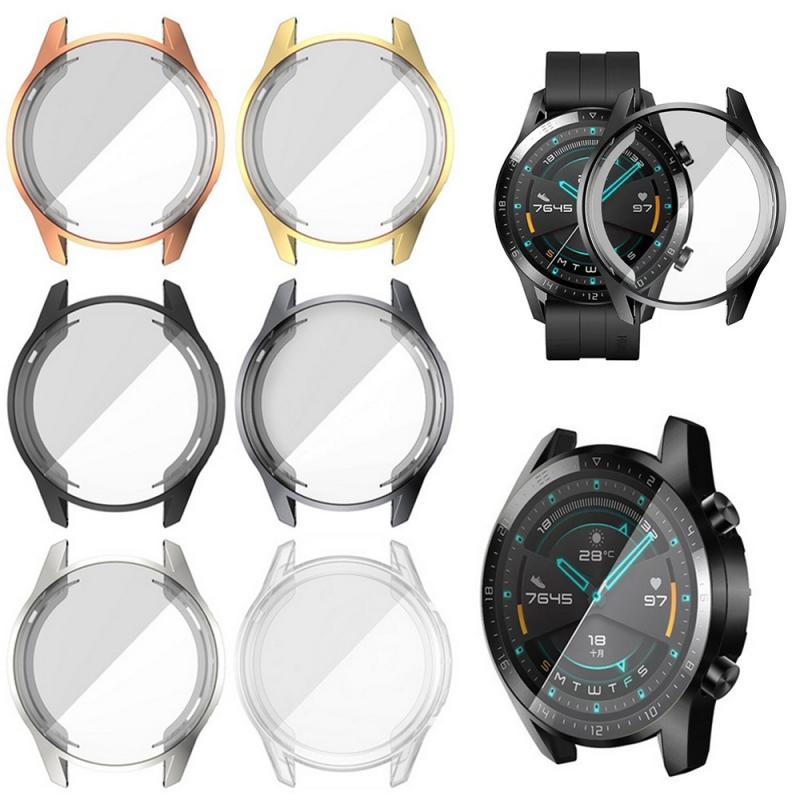 Plating Protective Shell Cover For Huawei Watch Gt2 2gt 46mm Case Tpu Silicone Bumper For Watch Gt 2 46 Mm Frame Accessories