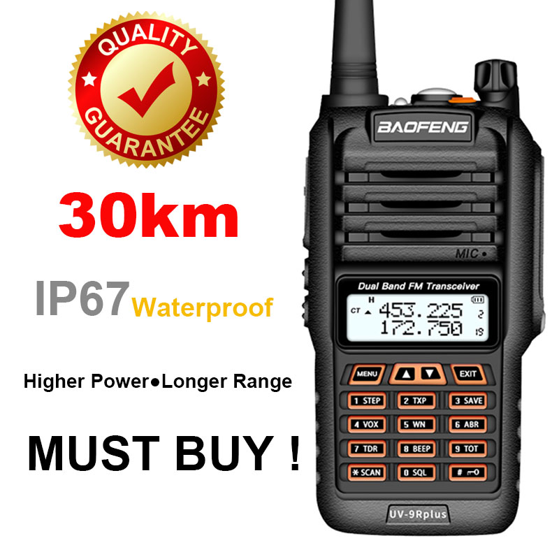 Professional Baofeng UV 9R Plus Ham CB Radio Comunicador Walkie Talkie Two Way Radio 10-50km Vhf Uhf  Baofeng Uv9r Plus