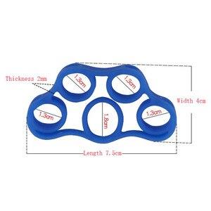 Image 3 - シリコーン指グリッパー強度トレーナー抵抗バンドハンドグリップリストヨガストレッチ指トレーナー運動送料無料