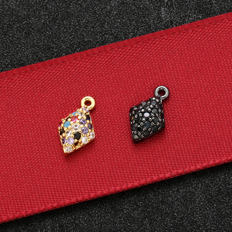ZHUKOU 6x11mm Unique and compact crystal pendant for women necklace handmade DIY earrings jewelry accessories model:VD526